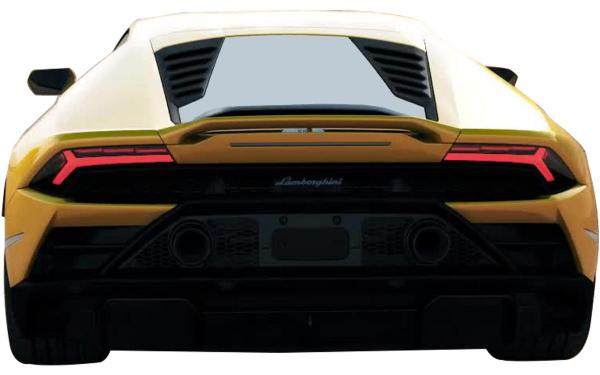 Lamborghini Huracan Evo RWD Rear View