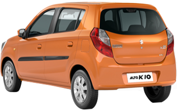 Maruti Suzuki Alto K10 Exterior Rear Side View
