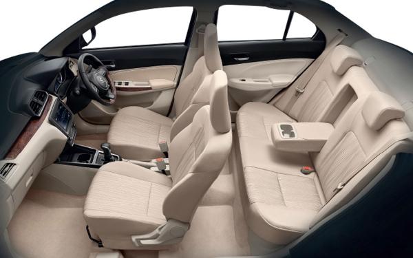Maruti Suzuki Swift Dzire Interior Side View