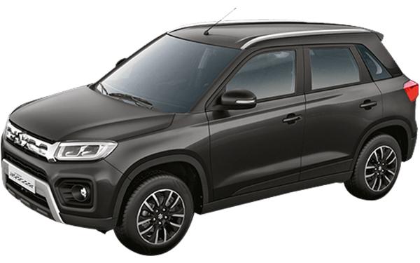 Maruti Suzuki Vitara Brezza Exterior Front Side View (Granite Grey)