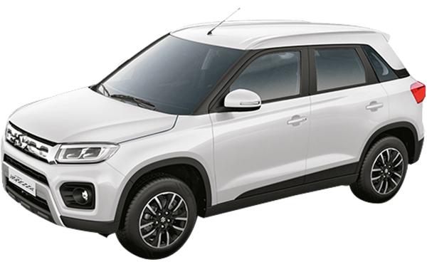 Maruti Suzuki Vitara Brezza Exterior Front Side View (Pearl Artic White)