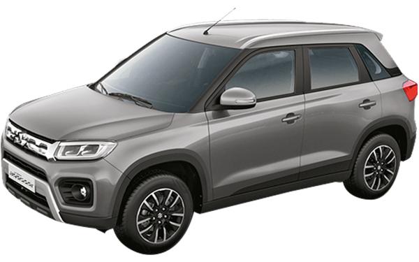 Maruti Suzuki Vitara Brezza Exterior Front Side View (Premium Silver)