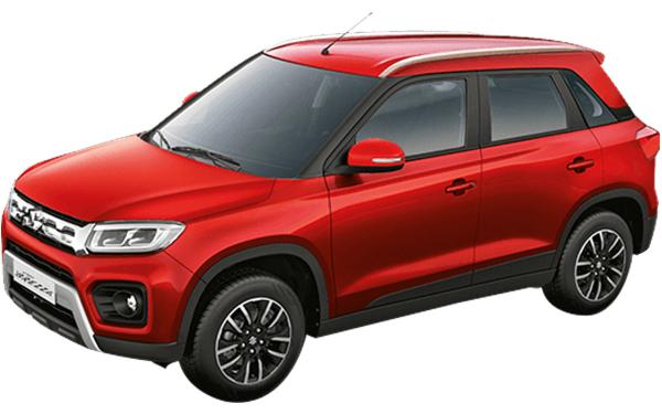 Maruti Suzuki Vitara Brezza Exterior Front Side View (Sizzling Red)