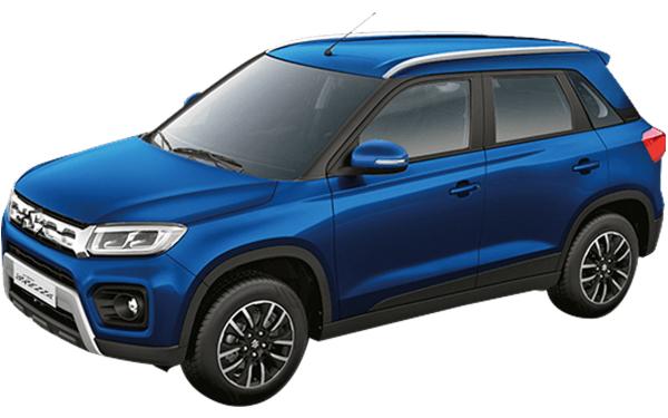 Maruti Suzuki Vitara Brezza Exterior Front Side View (Torque Blue)