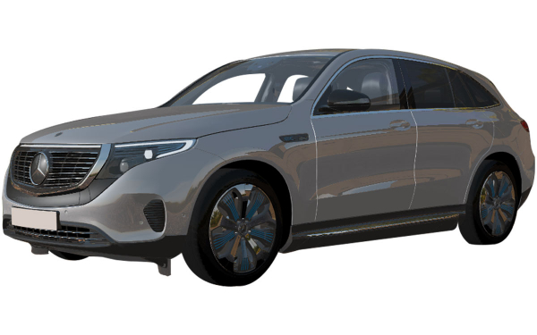 Mercedes Benz EQC Exterior Front Side View