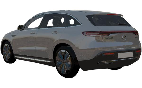 Mercedes Benz EQC Exterior Rear Side View