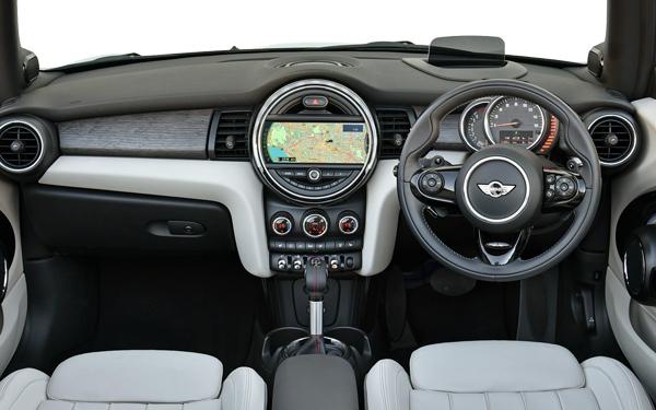 Mini Cooper Convertible Interior Front View