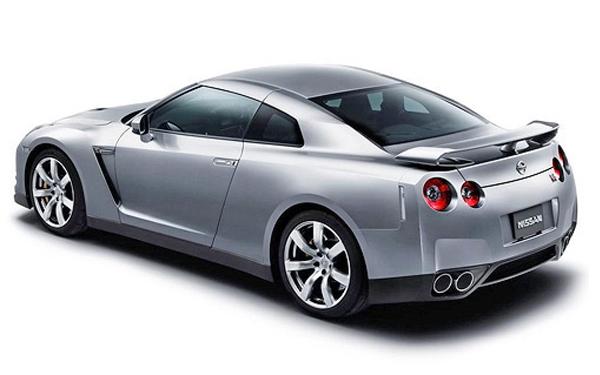Nissan GTR back side view