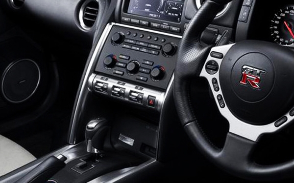 Nissan GTR interior view with dashboard