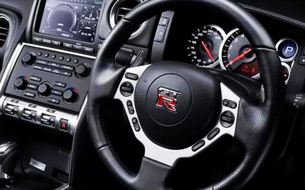 Nissan GTR steering view