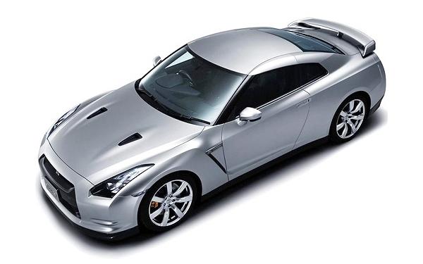 Nissan GTR top view