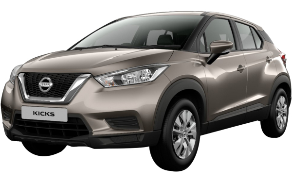 Nissan Kicks Exterior Front Side View (Bronze Grey)