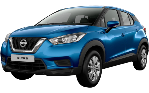 Nissan Kicks Exterior Front Side View (Deep Blue Pearl)