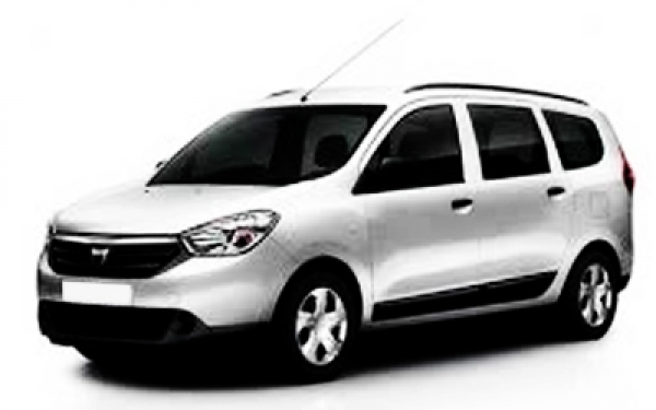 White Renault Lodgy