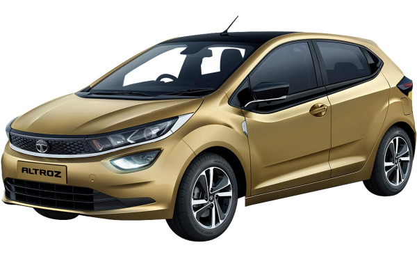 Tata Altroz Exterior Front Side View (High Street Gold)