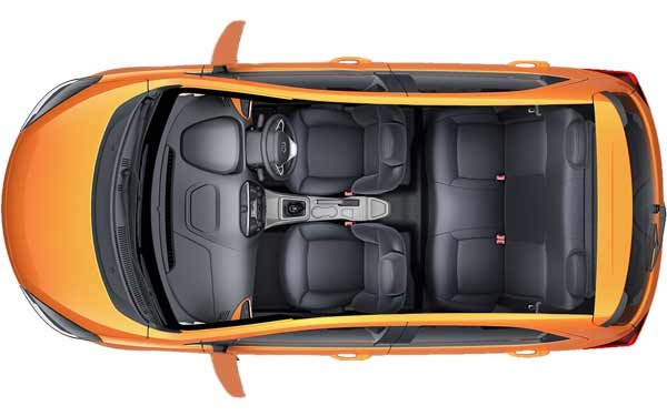 Tata Tiago (Zica) Interior Top View