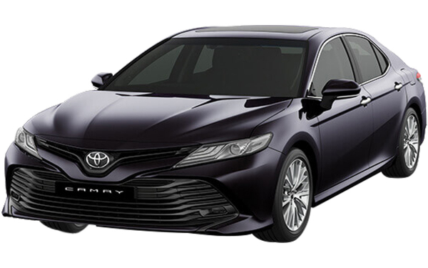 Toyota Camry Exterior Front Side View (Burning Black)