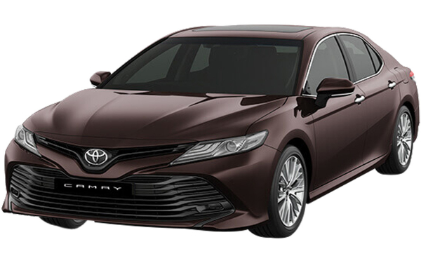 Toyota Camry Exterior Front Side View (Phantom Brown)