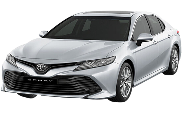 Toyota Camry Exterior Front Side View (Silver)
