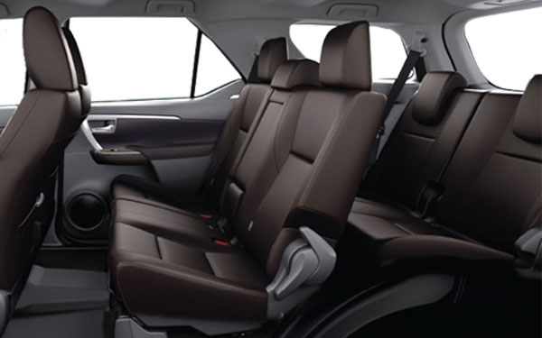 Toyota Fortuner Interior Rear Side View
