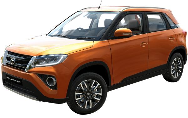 Toyota Urban Cruiser Exterior Front Side View (Groovy Orange)