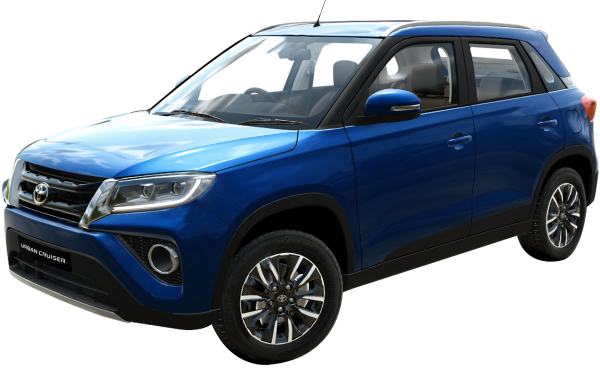 Toyota Urban Cruiser Exterior Front Side View (Spunky Blue)