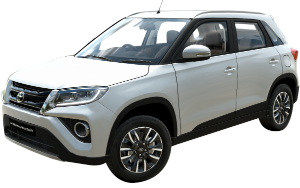 Toyota Urban Cruiser Exterior Front Side View (Sunny White)