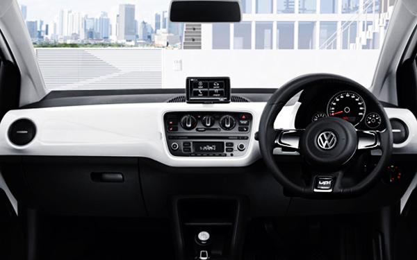Volkswagen Up interior dashboard view