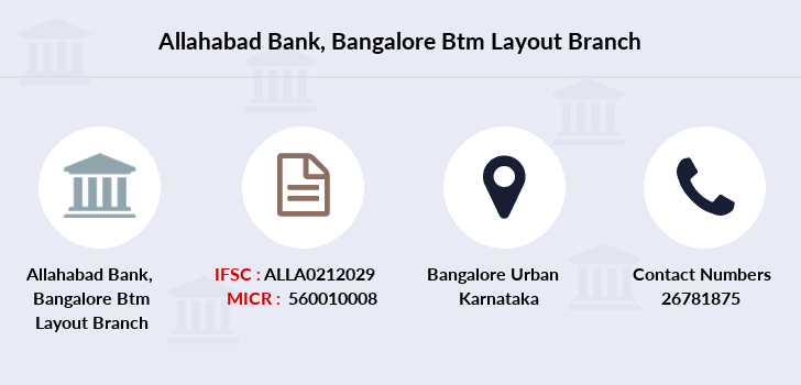 Allahabad-bank Bangalore-btm-layout branch