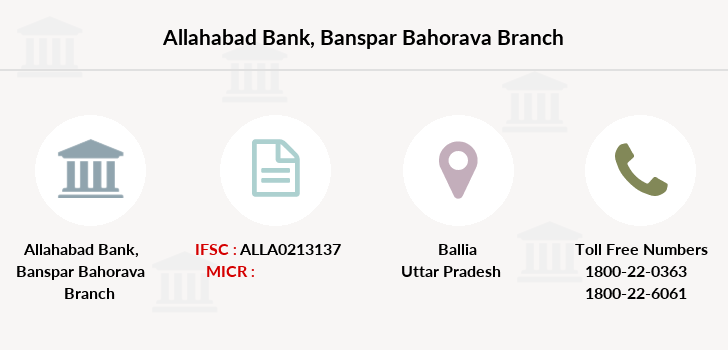 Allahabad-bank Banspar-bahorava branch