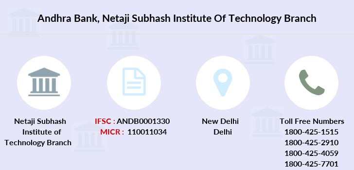 Andhra-bank Netaji-subhash-institute-of-technology branch