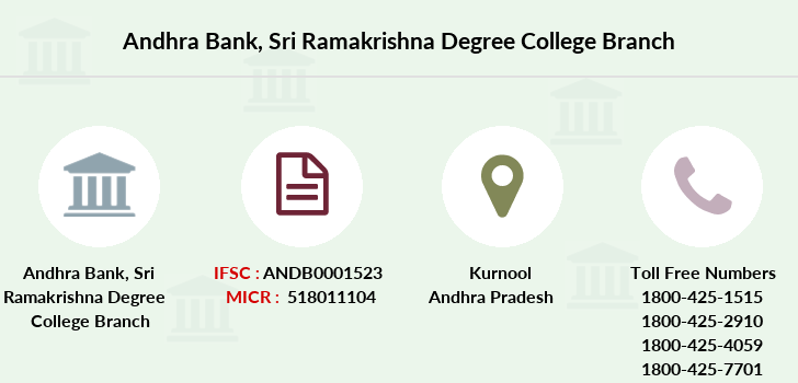 Andhra-bank Sri-ramakrishna-degree-college branch