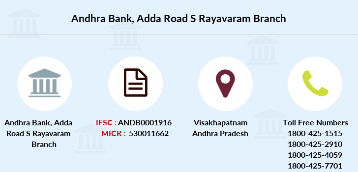 Andhra-bank Adda-road-s-rayavaram branch