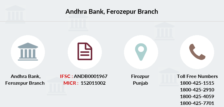 Andhra-bank Ferozepur branch