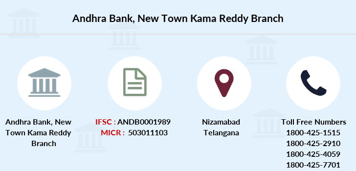 Andhra-bank New-town-kama-reddy branch
