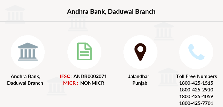 Andhra-bank Daduwal branch
