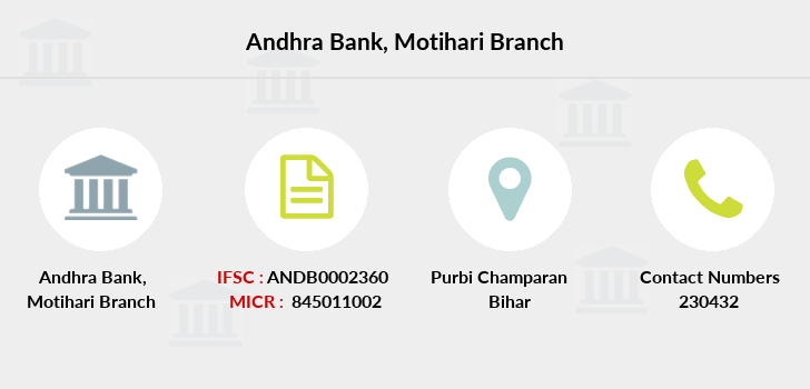 Andhra-bank Motihari branch