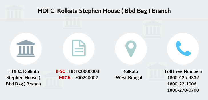 Hdfc-bank Kolkata-stephen-house-bbd-bag branch
