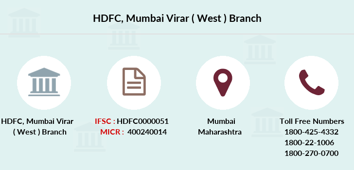 Hdfc-bank Mumbai-virar-west branch