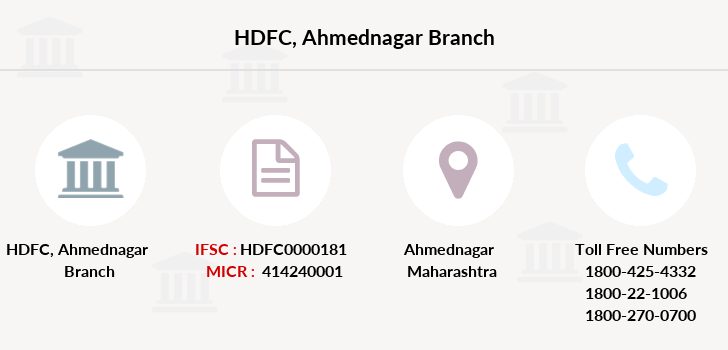 Hdfc-bank Ahmednagar branch