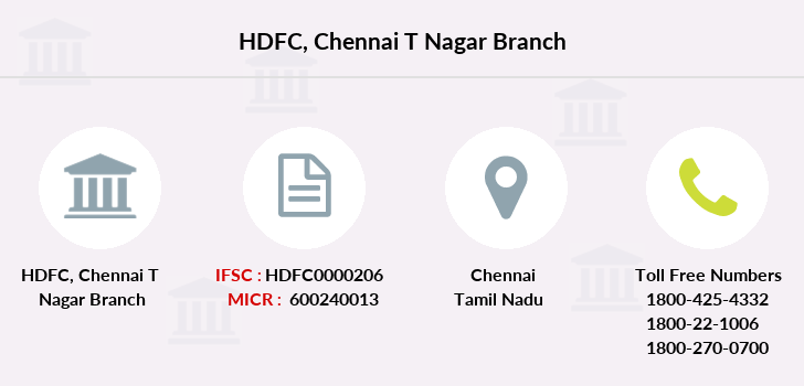 Hdfc-bank Chennai-t-nagar branch
