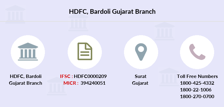 Hdfc-bank Bardoli-gujarat branch