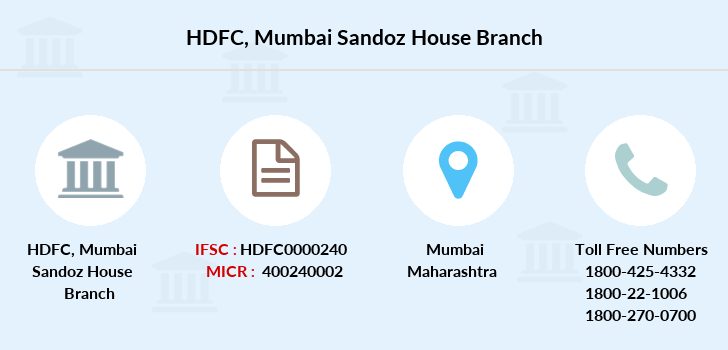 Hdfc-bank Mumbai-sandoz-house branch