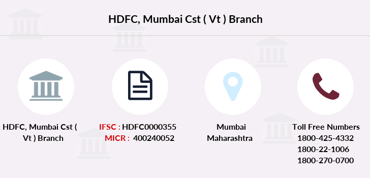 Hdfc-bank Mumbai-cst-vt branch