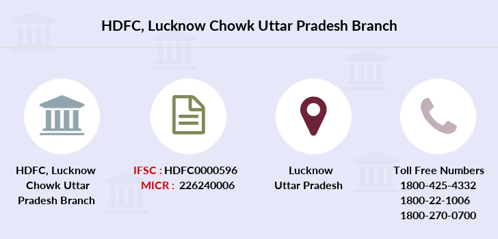 Hdfc-bank Lucknow-chowk-uttar-pradesh branch