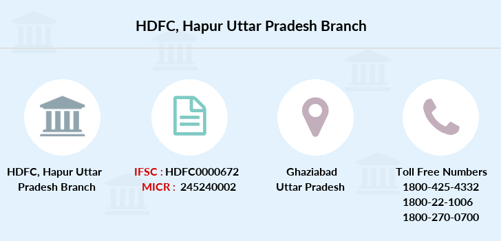 Hdfc-bank Hapur-uttar-pradesh branch