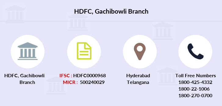 Hdfc-bank Gachibowli branch