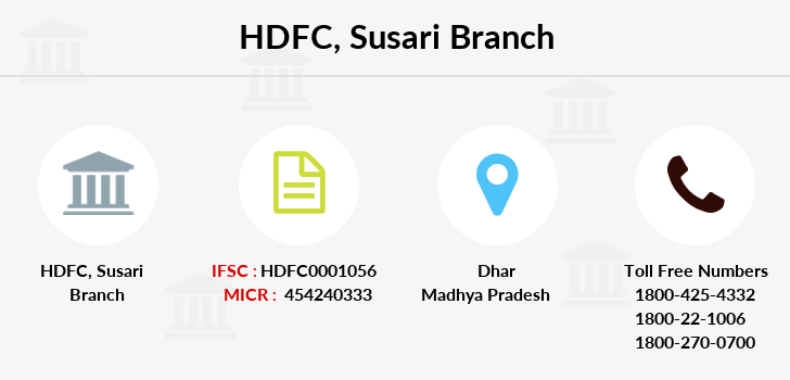 Hdfc-bank Susari branch