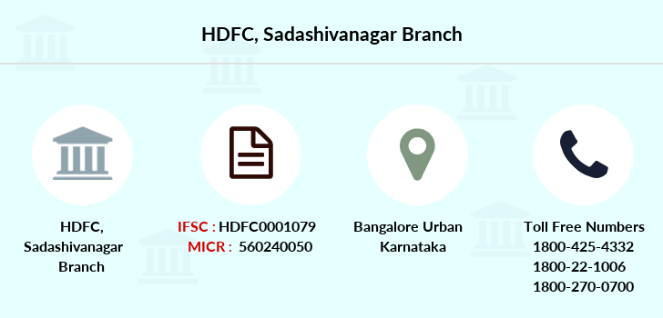 Hdfc-bank Sadashivanagar branch