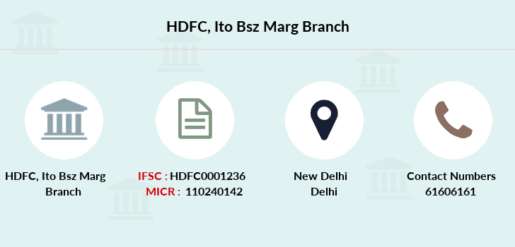 Hdfc-bank Ito-bsz-marg branch
